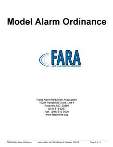 FARA Model Ordinance