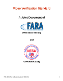 FARA & NESA Release NEW Video Verification Standard
